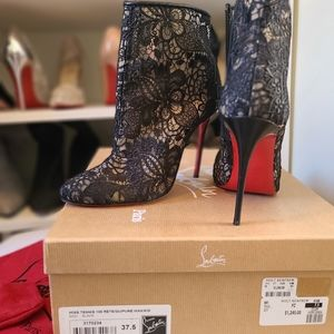 Christian Louboutin lace booties